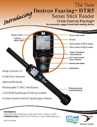 DTR5 Hand Held Reader with Bluetooth Kit - 45 cm or 60 cm