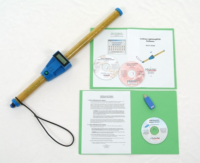 Standard 2 Foot (3 Foot Custom Length Available) LOOK-UP Lightning Rod with Wall Charger Plug Plus USB Dongle, Lookup Software