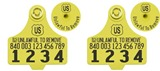 Official USDA '840' Tamper Evident Cattle Visual Matched Pair Tag Set (Destron Fearing) - Medium
