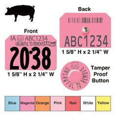 Official USDA Swine Premise Identification Number (PIN) Tags - Allflex