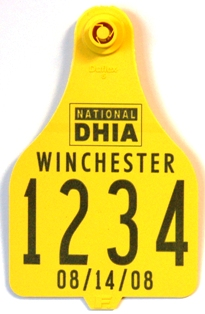 National DHIA Custom Tag Set F102 - Extra Large (XL) Set