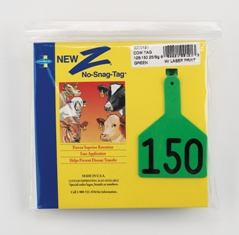 Z-Tag Z1 No-Snag Cow Tag - Prenumbered (Choice of Hot Stamp or Laser Marking)