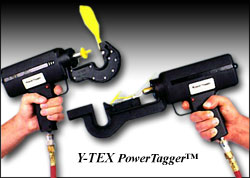 Power Tagger for Feedlot Tags from Y-Tex Tags