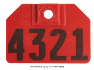 Herdsman Tags - Small (Female Only or Set with Rivets)