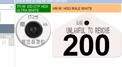 Official USDA '840' High Performance Ultra EID Tag (Allflex) - Small Male with Management Number