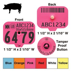 Official USDA Swine Premise Identification Number (PIN) Tags - Destron Fearing
