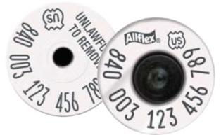 Official USDA &#039;840&#039; High Performance Ultra EID Tag (Allflex)