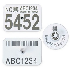Official USDA Swine Premise Identification Number (PIN) Tags - Y-Tex